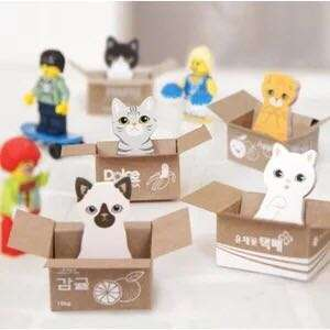 🚚 Cute Kitty Cat In The Box House It Sticky Note Pad