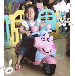 Peppa Pig 3 wheelers electric rechargeable tricycle bicycle motorbike scooter for kids 1-6 yrs old