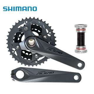 🆕! Shimano Alivio Hollowtech Triple MTB Crankset FC-M4050 + Bottom Bracket BB52    #OK