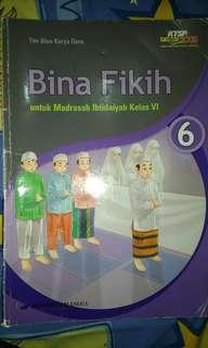 Buku Bina Fikih / Fiqih untuk Sd kelas VI kelas 6, penerbit erlangga