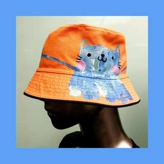 New Cat Handpainted Hat
