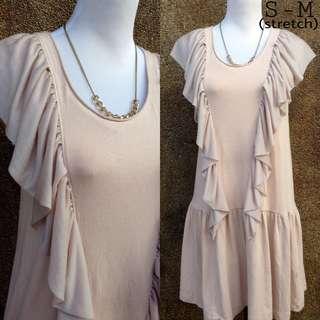 Old rose Ruffle Dress