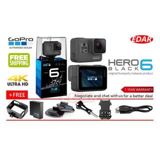 GOPRO HERO 6 (BLACK) ««ORIGINAL & OFFICIAL FUNSPORTZ»»