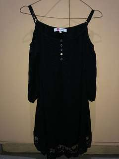 Black Boho style dress