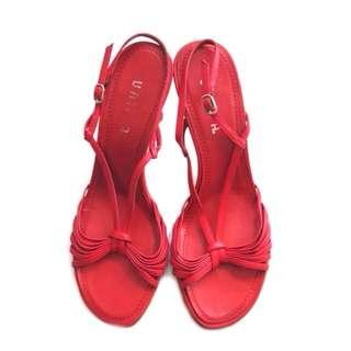 Unisa Red Low Heels