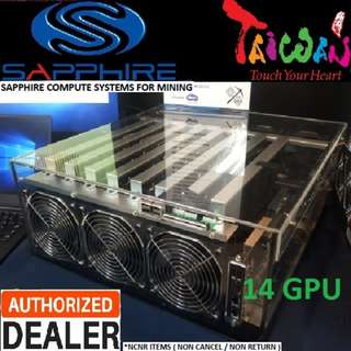 "Sapphire ""Dual Rx 470 8GB x 7 ( 14 GPU ) Mining Computer System.., up to 405 MH/s, 2000w"