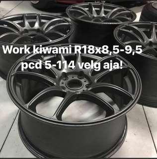 Velg Work kiwami r18 pcd 5x114/112