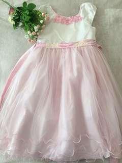 White Pink Dress