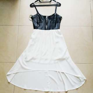 Forever 21 Leather High Low Dress