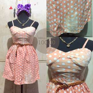 Polka bustier dress