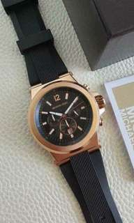 MK RUBBER STRAP AUTHENTIC WATCH