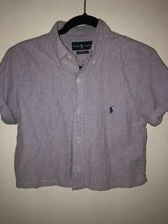Ralph Lauren Cropped Button up