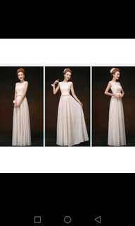 Beige Evening Gown