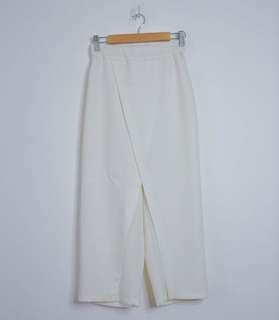 White Wraparound Pants/Skirt