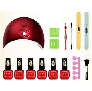 6x7ml Gel Polish Kasi Starter Kit 36W LED UV Lamp Gelish Manicure Pedicure