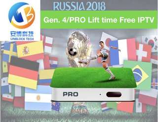 Unblock TV box FREE life time no subscription world cup Tamil /Malay/Astro/HBO one year warranty