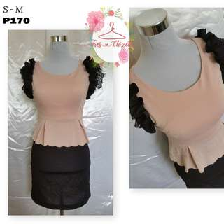 Peplum Dress (Ukay Item)