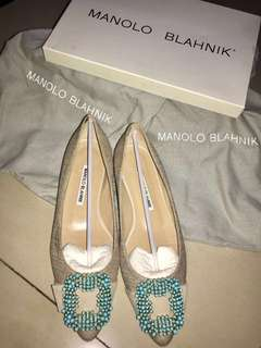 SALE🔥🔥Authentic manolo flat shoes 36.5