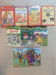 Bundle of 12 Scholastic and All Abroad Level 3 / Hello Level 4 Readers