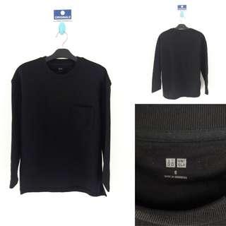 Uniqlo Basic Pocket Sweatshirt - Black