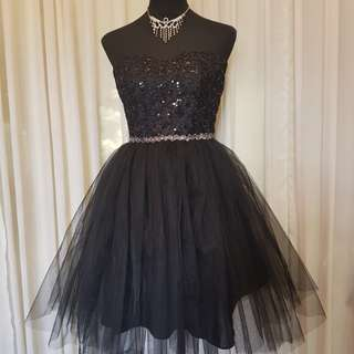 Black Sparkling Cocktail Dresses For Rent