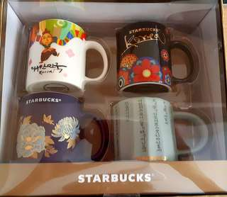 韓國Starbucks 咖啡杯 Korea Demi Mug Set