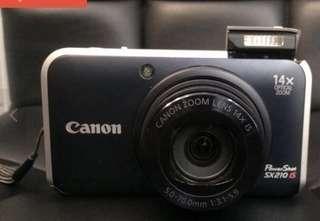 New Canon PowerShot SX210 IS 14.1MP Digital Camera - Black