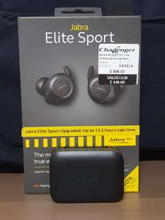 Jabra Elite Sport V2 (Black) True Wireless Earphones
