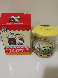 7-11 Pompompurin Glass Container Collection