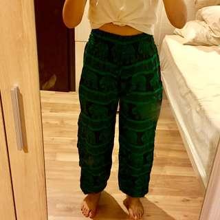 Brand New Thai Elephant Pants (Black & Green)