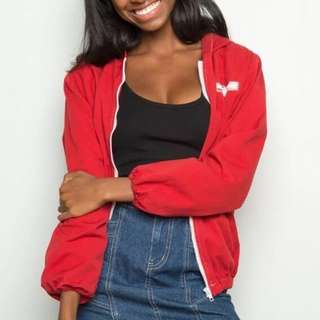brandy melville red krissy jacket