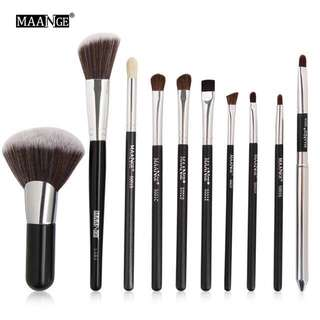 🦋MAANGE 1pc/10pcs Cosmetic Makeup Brushes Set Angle Top Make Up Brush Tool Kit🦋