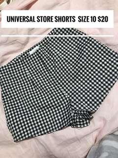 Universal store gingham shorts