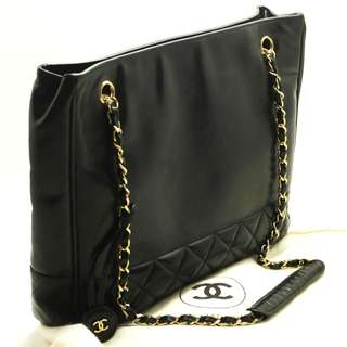 Chanel Black Vintage Lambskin tote Shoulder bag