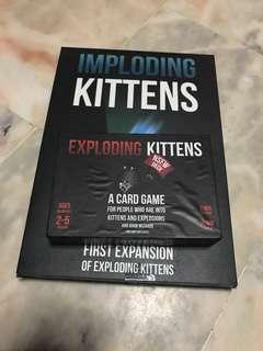 Exploding Kitten & Imploding Kitten Set