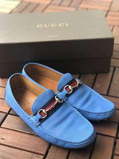 Gucci Men's Pebbled Leather Horsebit Driver