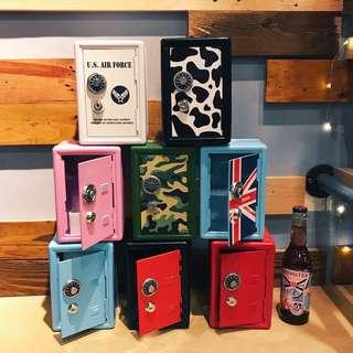 🇺🇸 美式復古迷你保險櫃 #存錢筒 附鑰匙2支 美式 裝飾擺飾
