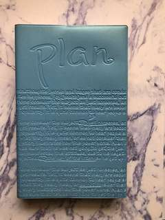 Undated Blue Planner