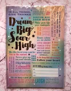 Paperstone Notebook- Dream Big, Soar High