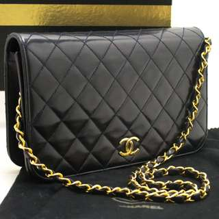 Chanel Quilted Navy Handbag with GHW
