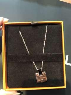 Hermes Necklace 新款玫瑰金拼黑色頸鏈