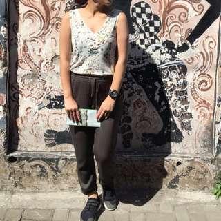 REPRICED! Zara Floral Button-down Back Top