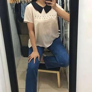 Zara baby pink top