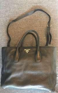 Orig PRADA two way bag (hand bag with sling)