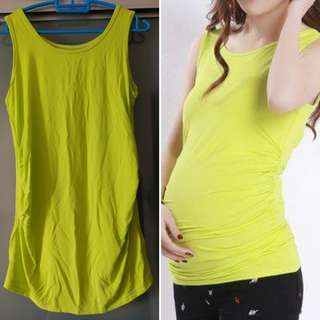 Fluorescent maternity top