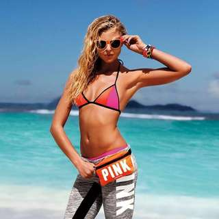 Authentic VS PINK Fanny Pack with Shades (Orange)