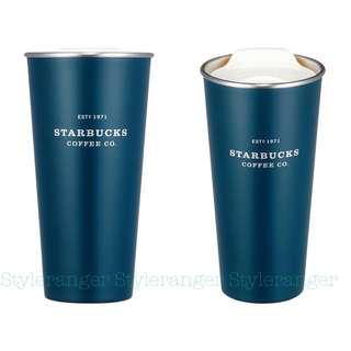 🇰🇷韓國2018 Starbucks深綠不鏽鋼隨行杯