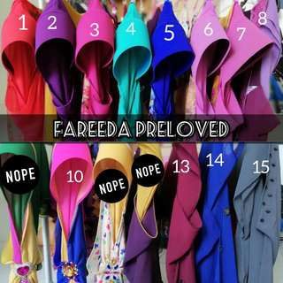 Preloved Fareeda original
