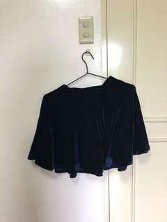 Velvet Blue Skater Skirt