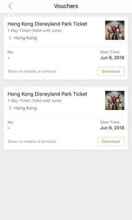Hongkong Disneyland 1-Day Voucher Valid till June 30 2018
